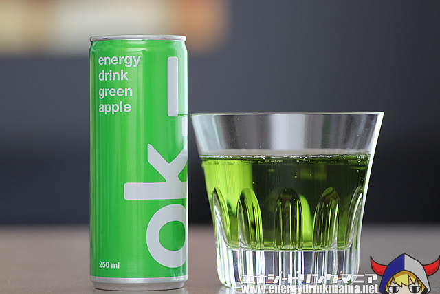 ok energy drink green apple